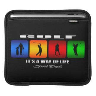 Cooles Golf ist es eine Lebensart iPad Sleeve