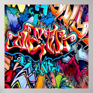 Cooles Graffitiwortkunst-Wohngestaltungplakat Poster