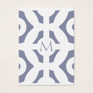 Cooles graues geometrisches Muster Jumbo-Visitenkarten