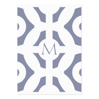 Cooles graues geometrisches Muster Mini-Visitenkarten
