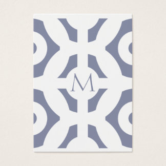 Cooles graues geometrisches Muster Visitenkarte