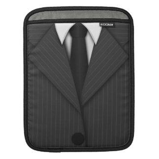 Cooles graues Pinstripe-Anzug und Krawatte iPad iPad Sleeve