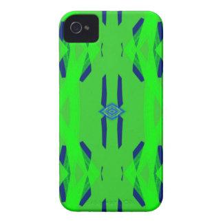 Cooles grün-blaues künstlerisches Neonabstraktes iPhone 4 Hüllen