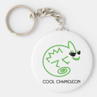 Cooles grünes Chamäleon Standard Runder Schlüsselanhänger