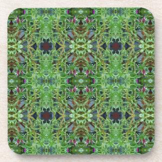 Cooles grünes Funky Kaleidescope Muster Untersetzer