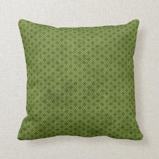 Cooles Grunge-Grün-geometrisches Kissen