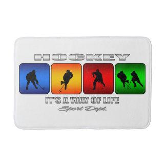 Cooles Hockey ist es eine Lebensart Badematte