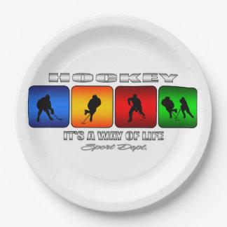 Cooles Hockey ist es eine Lebensart Pappteller