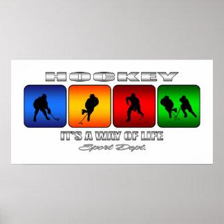 Cooles Hockey ist es eine Lebensart Poster