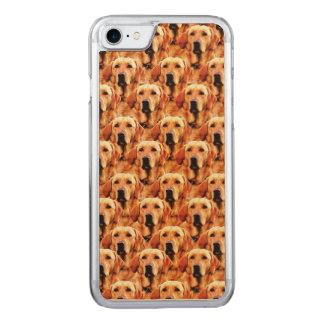 Cooles Hundekunst-Hündchen-goldener Retriever Carved iPhone 8/7 Hülle