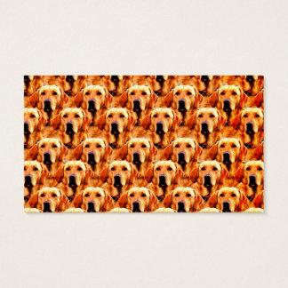 Cooles Hundekunst-Hündchen-goldener Retriever Visitenkarte