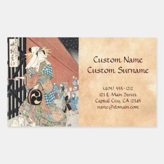 Cooles japaese ukiyo-e Vintage klassische Geishada Rechrteckaufkleber