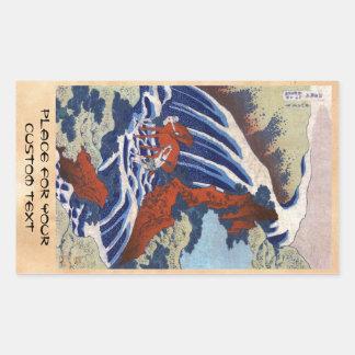 Cooles japanisches ukiyo-e Vintage Rechteckiger Aufkleber