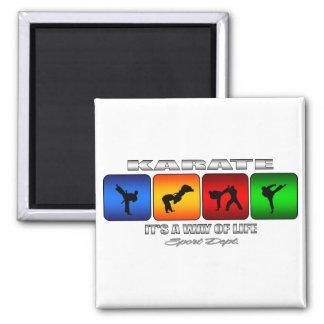 Cooles Karate ist es eine Lebensart Quadratischer Magnet
