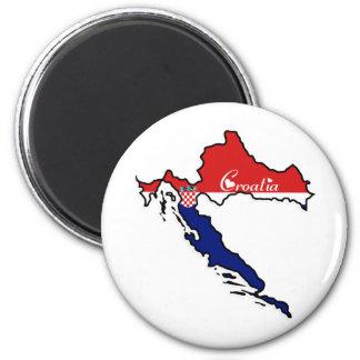 Cooles Kroatien Runder Magnet 5,7 Cm