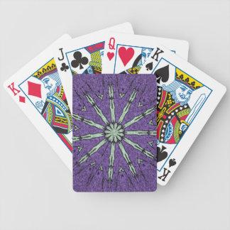 Cooles künstlerisches Lavendel-Minzemandala-Muster Bicycle Spielkarten
