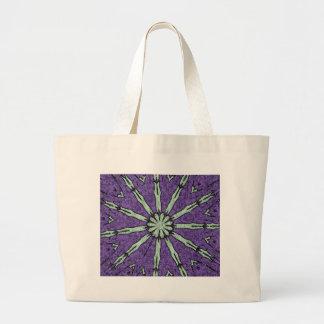 Cooles künstlerisches Lavendel-Minzemandala-Muster Jumbo Stoffbeutel