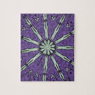 Cooles künstlerisches Lavendel-Minzemandala-Muster Puzzle