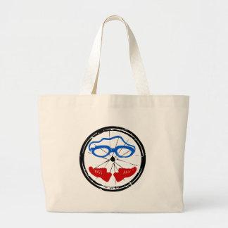 Cooles künstlerisches Logo des Triathlon Jumbo Stoffbeutel