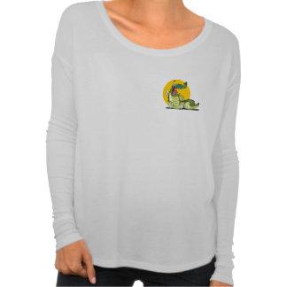 Cooles Lächeln-Krokodil-langes Hülsen-Shirt für