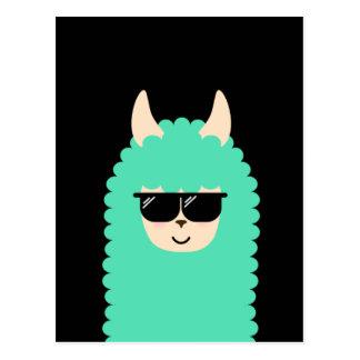 Cooles Lama Emoji Postkarte