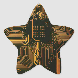 Cooles Leiterplatte-Computerkupfer und -SCHWARZES Stern-Aufkleber