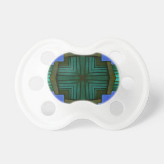 Cooles lineares symmetrisches blaues Grün-Muster Schnuller