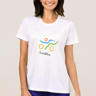 Cooles Logo des Triathlon T-Shirt