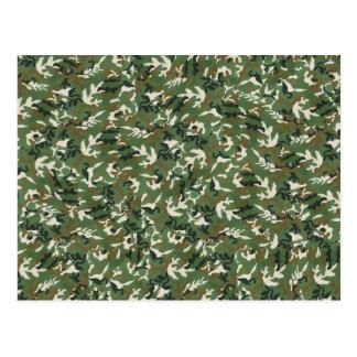 Cooles militärisches grünes Tarnungs-Muster Postkarte
