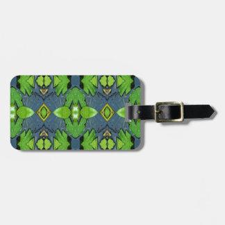 Cooles modernes blaues Grün-Stammes- Muster Gepäckanhänger