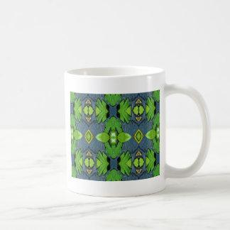 Cooles modernes blaues Grün-Stammes- Muster Kaffeetasse