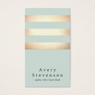 Cooles modernes Imitat-Gold und blaue Streifen Visitenkarten