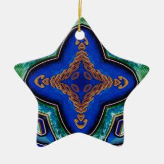 Cooles modernes königliches Blau-künstlerisches Keramik Ornament