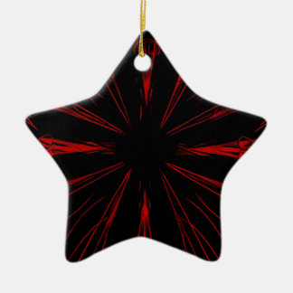 Cooles modernes rotes schwarzes Goth Muster Keramik Stern-Ornament