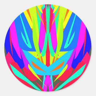 Cooles modernes vibrierendes symmetrisches runder aufkleber