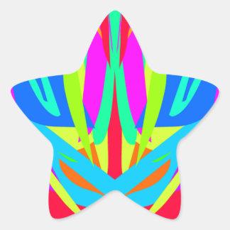 Cooles modernes vibrierendes symmetrisches Stern-Aufkleber