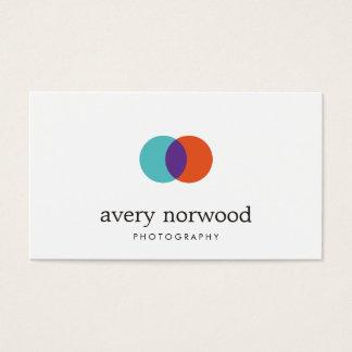 Cooles modernes weißes Fotograf-Fotografie-Logo Visitenkarte