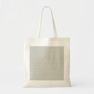 Cooles neutrales graues Blumengekritzel-Muster Tasche