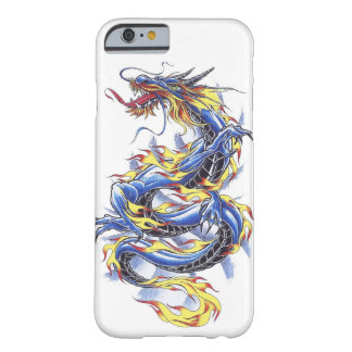 Cooles orientalisches japanisches blaues Drache Barely There iPhone 6 Hülle