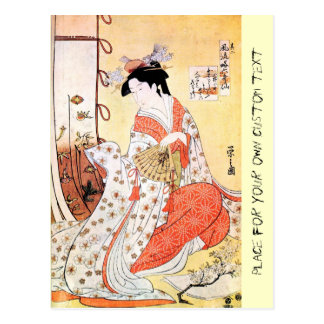 Cooles orientalisches japanisches klassisches postkarte