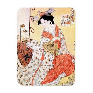 Cooles orientalisches japanisches klassisches rechteckiger fotomagnet