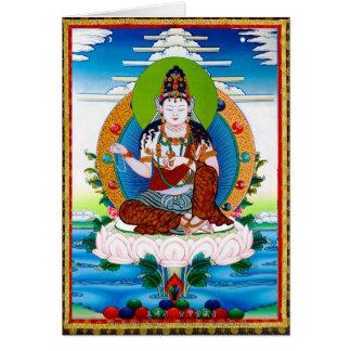 Cooles orientalisches tibetanisches thangka karte