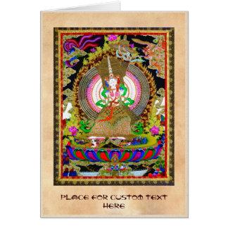 Cooles orientalisches tibetanisches thangka Usnisa Karte