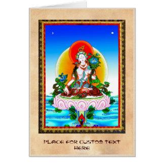 Cooles orientalisches tibetanisches thangka weiße karte