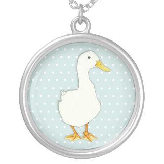 Cooles Punkte der Ente Silber überzogene Halskette