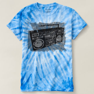 Cooles Retro beunruhigtes Boombox T-shirt