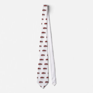 Cooles Retro Vintages rotes konvertierbares Bedruckte Krawatte
