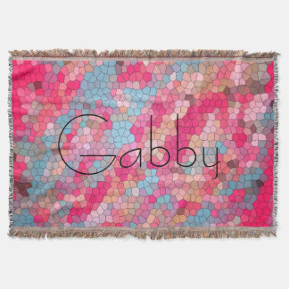 Cooles rosa Blau-beflecktes Glas-Muster Decke