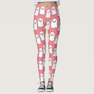 Cooles rosa Cartoon-Geist-Muster Leggings