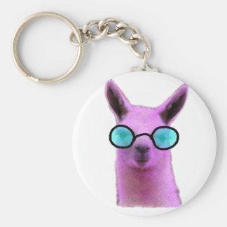 Cooles rosa Lama! Schlüsselanhänger